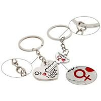 I LOVE YOU Silver Heart Keychain Ring Keyring Key Chain Lover Romantic Gifts