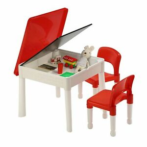 Kids Activity Play Table and Chair Set 6-in-1 Activity Table