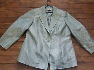 The Look Randolph Duke Womens Blue Pattern Design Jacket Coat  Blazer Size 18W