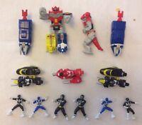 Rare 1990s Micro Machines Bundle Set Power Rangers Megazord Dinozord Figure Bike