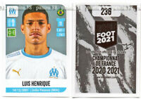 "RARE !! Sticker ROOKIE Luis HENRIQUE ""FRENCH FOOT 2020-2021"" Panini"