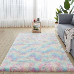Tie-dye Carpets for Living Room Plush Rug Bedroom Floor Fluffy Mats Anti-slip*1