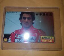 Marlboro Racing Japan Phone Card Aryton Senna Htf punched free shipping Shell 90