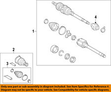 TOYOTA OEM 14-18 Highlander Front Drive Axle-Assembly 434100E220