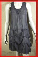 ET COMPAGNIE Taille 42 Superbe fond de robe gris coton mélangé