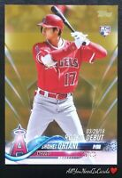 Shohei Ohtani 2018 Topps Update Gold /2018 Rookie Debut RC #US285 LA Angels Card