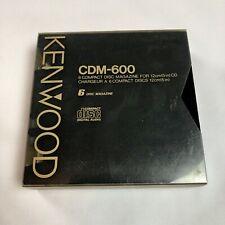 """Kenwood Cdm-600 6 Disc Magazine for 5"""" Cd Car Changer Jvc"""