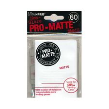 10 x PACKS YUGIOH sized Ultra Pro WHITE PRO-MATTE Card Sleeves 60ct NEW!