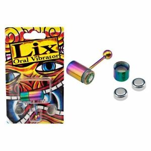 Lix Anodized Steel Multi-Color Vibrating Tongue Ring 14G