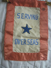 WWII US Home Front Armed Services Serving Overseas 1 Star Window Hanger