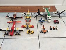 Lego/Legos Airplane/Airplanes Lot Used 60019 60021 5762 5684 5866 7292