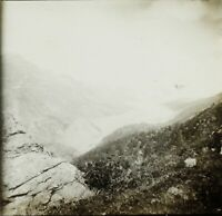 Francia Suisse Alpes Montagne Foto Stereo Vintage Placca Lente VR2L2n6