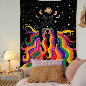 Girl Twin Tapestry Wall Hanging Bedspread Hippie Bohemian Home Decor Mandala Art