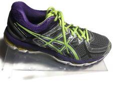 Asics Women's Gel Kayano 21 Gray/Purple/Lime Running Shoes - Size 9/US  40.5/EU