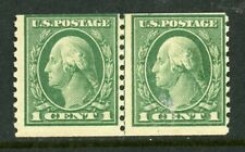 US Scott 443 Washington  P.10V Line Pair Flat press Mint Hinged