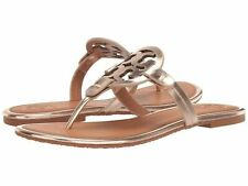 NIB Tory Burch Miller Flip Flop Sandals Shoes ROSE GOLD TAN 8, 6, 8,5