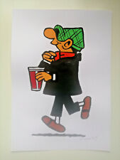 Única mooseart cómic dibujo Andy Capp papel gouache 21x30cm original