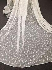 2.5m Pretty  Simone Curtain Lace -WHITE 275 cm drop  -High Quality Beautiful