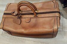 MARK CROSS New York Brown Leather Overnight/Weekender Duffel