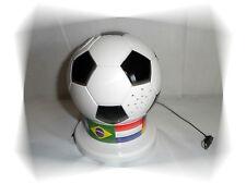 Radio FM Ballon de Football Noir et Blanc et Bande Drapeaux