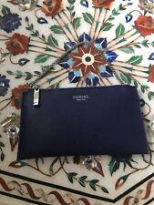 New Sorial Dark Blue Soffiano Leather Small Chain Crossbody Clutch