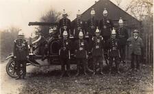 Fire Fighting Fire Engine  Fireman unused RP PC Crookham 1925
