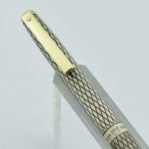 Sheaffer Silver Imperial Pencil - Sterling Diamond Grid, .9mm (New Old Stock)