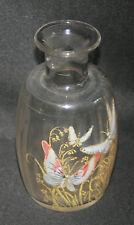 ancien petit flacon Legras verre soufflé émaillé art nouveau fin XIX ème