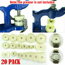 20Pcs Watchmaker Tool Watch Press Set Back Case Closer Crystal Glass Repair Dies