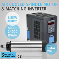 1.5KW AIR COOLED SPINDLE MOTOR 1.5KW VFD DE 4 BEARING MILL GRIND ENGRAVING