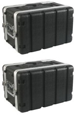 """(2 Pack) Rack Case 6U Space SHALLOW 8 Inch Deep Shell, ABS 19"""" Std, with screws"""