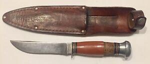Vintage Remington Fixed Blade RH 72P USA Hunting Knife w/ Sheath L@@K!!!