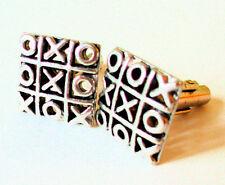 Tic Tac Toe Cufflinks Game Mens Jewelry Teacher Dad Math Grad Gift Square Xs Os