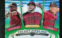 2018 Bowman Chrome Talent Pipeline Green Refractor /99 Duplantier Young Banda RC