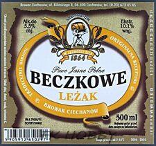 Poland Brewery Ciechanów Beczkowe Leżak Beer Label Bieretikett Cerveza ci74.2