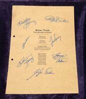 Star Trek II The Wrath of Khan Script Cover, HAND-SIGNED by SEVEN w/CoA!