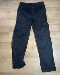 OrSlow french work pants Black herringbone cotton elasticated waist size 1 29-32