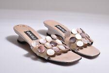 VAN ELI DITTO WOMEN'S PEARL COLOR BUTTONS OPEN TOE SANDALS MRSP $99 Size 6M