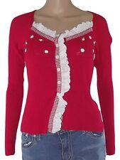 sharon b maglia + top donna rosso stretch taglia s small