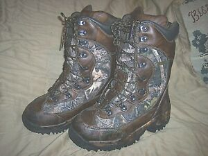 Inferno 2000-Gram Kanati Camo Boots Extreme Cold Weather Hunting Boots Mens 8