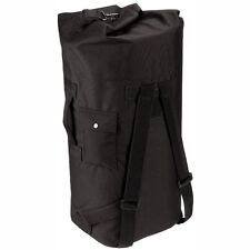 "Double Strap Top Load Nylon Duffle Bag 24"" X 36"" Army Navy USAF USCG USMC Black"