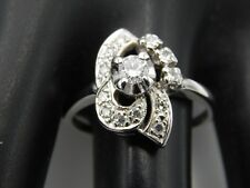 High Quality Diamond Ring .49 tcw D/VVS Cocktail ART DECO 14k WG Handmade Estate