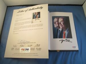 George W Bush Signed 41 Portrait Of My Father Deluxe Edition Book PSA DNA COA