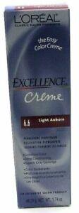 Loreal Excellence Creme Permanent Haircolor 6.6 Light Auburn 1.74 oz Read Info