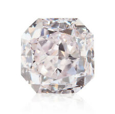 0.45 Carat Fancy Pink Diamond Loose Natural Color Certified Radiant Cut