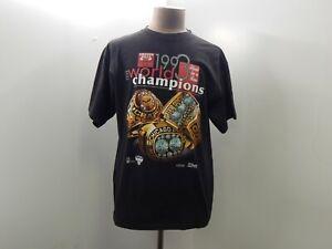 VTG Salem Sportswear Chicago Bulls Mens XL Black T-Shirt 1993 NBA World Champion