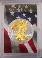 2016 Gilded American Silver Eagle .999 Bullion 1oz Ounce  Free Shipping 24k Gold