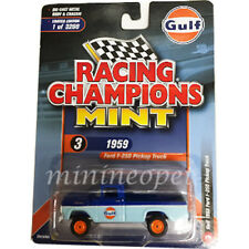 RACING CHAMPIONS RCSP009 1959 FORD F-250 PICK UP TRUCK 1/64 GULF OIL 2Tone BLUE