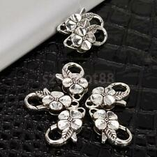 10pcs Antique Tibetan Silver Flower Lobster Clasp DIY Jewelry Findings 25mm