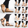 Womens Slip On Flats Ankle Strap Pumps Ballet Dolly Casual Ballerina Dance Shoes